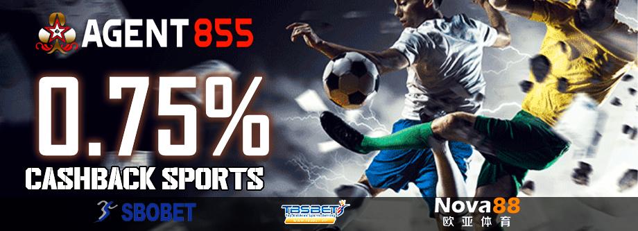 Komisi Sportbook 0,75%